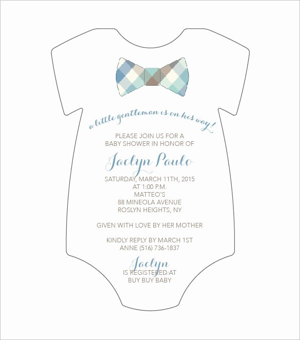 Baby Onesie Invite Template Unique 20 Esie Templates Psd Pdf