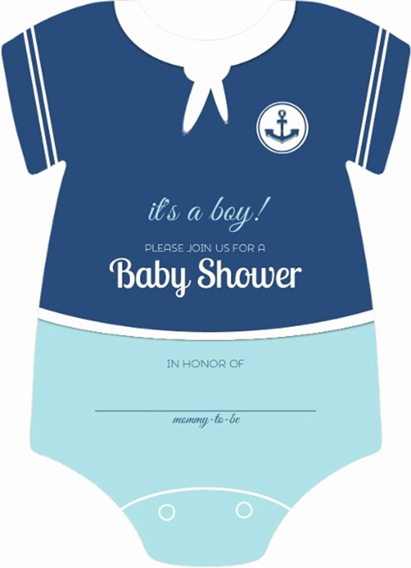 Baby Onesies Invitations Template Awesome Sailor Esie Boys Nautical themed Fill In Blank Baby