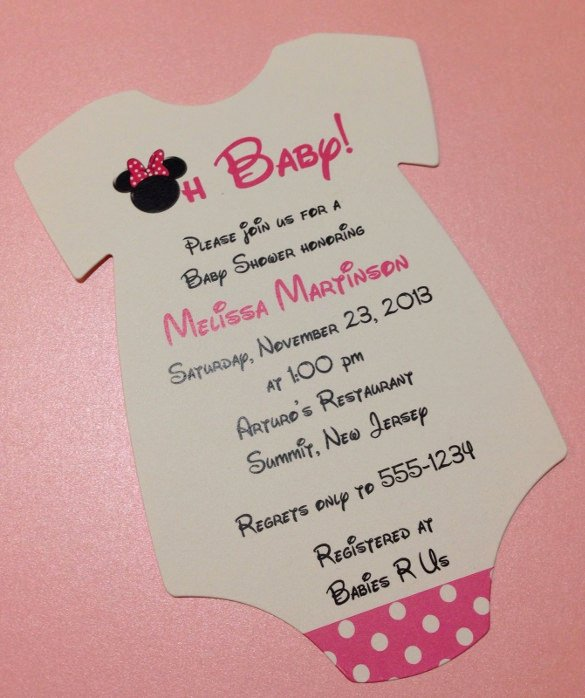 Baby Onesies Invitations Template Lovely 11 Esie Invitation Templates Free Sample Example