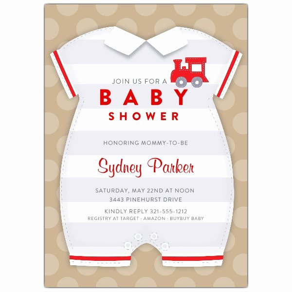 Baby Onesies Invitations Template Luxury Baby Boy Esie Shower Invitations