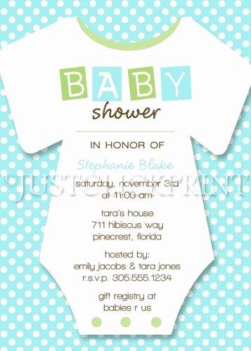 Baby Onesies Invitations Template Luxury Boy Girl Baby Shower Esie Invitation Pink Green Blue Purple