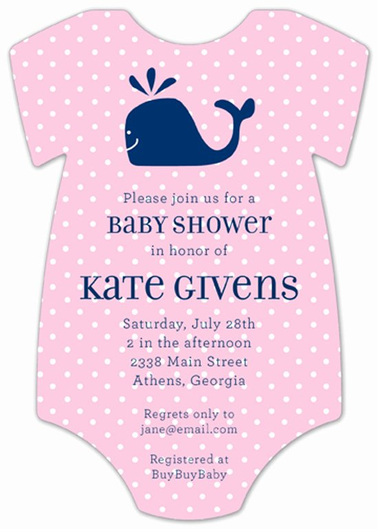 Baby Onesies Invitations Template New Baby Shower Invitations for Girls