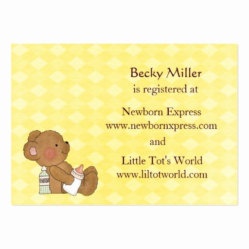Baby Registry Card Template Best Of Baby Shower Registry Card Business Card Templates