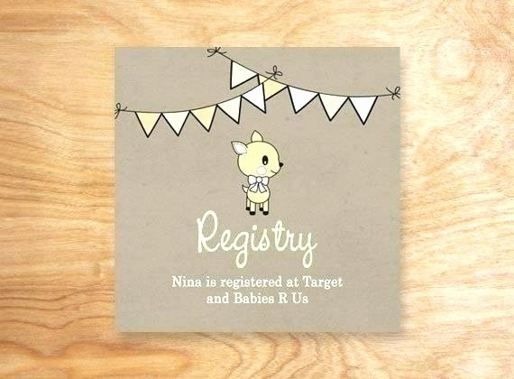 Baby Registry Card Template Best Of Tar Baby Registry Template Shower Inserts Invitation