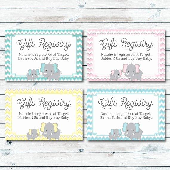Baby Registry Card Template Elegant Baby Registry Cards Registry Inserts Baby Shower Gift