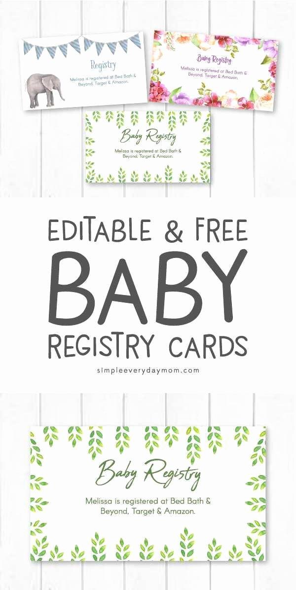 Baby Registry Card Template Elegant Baby Shower Registry Cards Best Baby Registry Cards