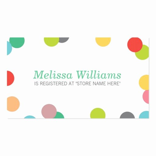 Baby Registry Card Template Fresh Rainbow Confetti Baby Shower Registry Insert Card Double