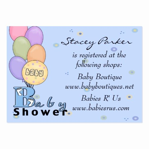 Baby Registry Card Template Lovely Baby Registry Cards Business Card Templates