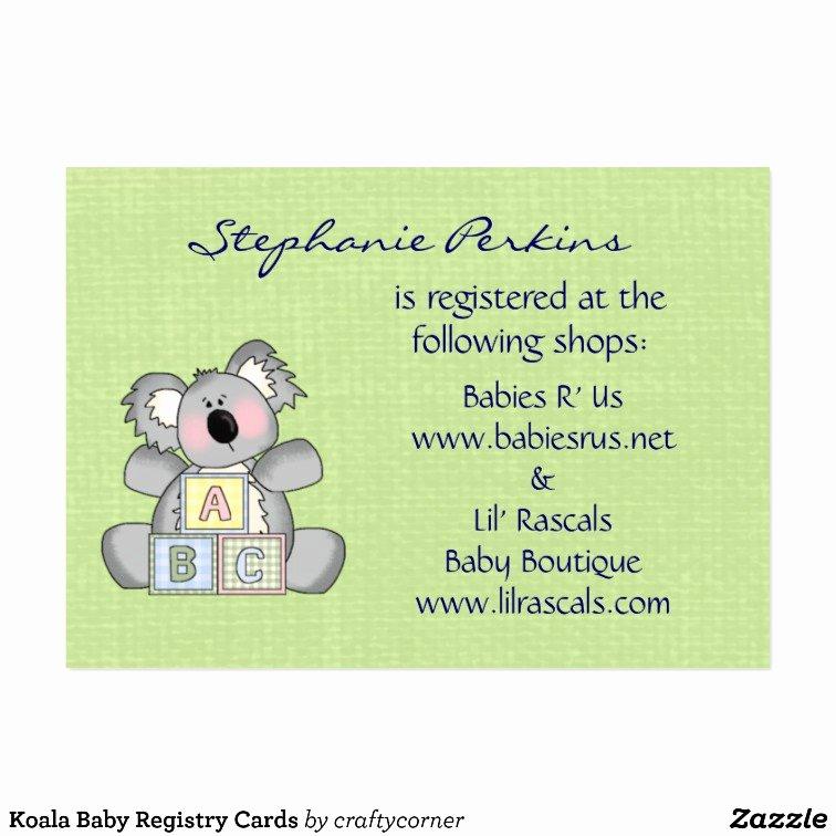 Baby Registry Card Template Luxury Dreams Baby Registry Cards Business Card Templates – Museo