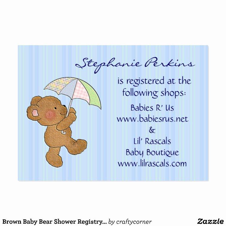 Baby Registry Card Template Luxury Sweet Dreams Baby Registry Cards Business Card Templates