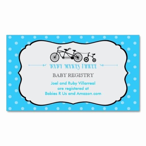 Baby Registry Card Template New 1000 Images About Bicycle Business Cards On Pinterest