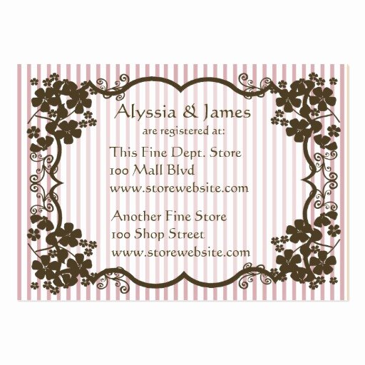 Baby Registry Card Template New Baby Shower Registry Card Business Cards Pack