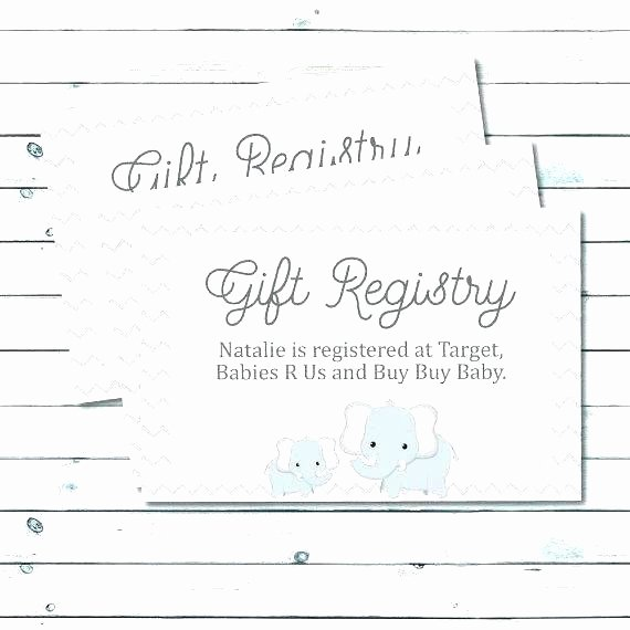 Baby Registry Card Template New Wedding Registry Announcement Free Invitation Insert