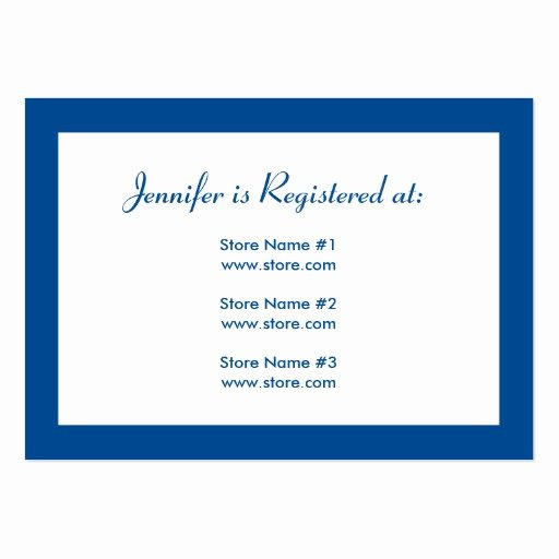 Baby Registry Cards Template Beautiful Baby Shower Registry Card with Date Blue Business