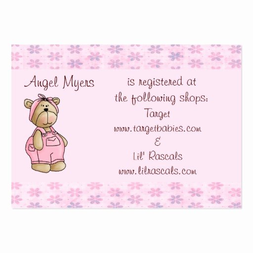 Baby Registry Cards Template Best Of Baby Bear Gift Registry Card Business Cards Pack