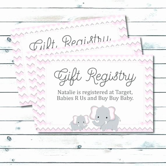 Baby Registry Cards Template Elegant Baby Shower Registry Cards Baby Shower Gift Registry