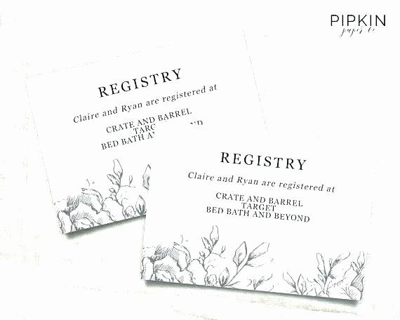Baby Registry Cards Template Fresh Baby Shower Registry Cards Template – Macolineo