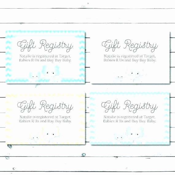 Baby Registry Cards Template Fresh Free Printable Gift Certificate Template Wedding Templates