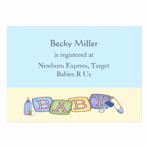 Baby Registry Cards Template Inspirational Baby Blocks Baby Shower Registry Cards Business