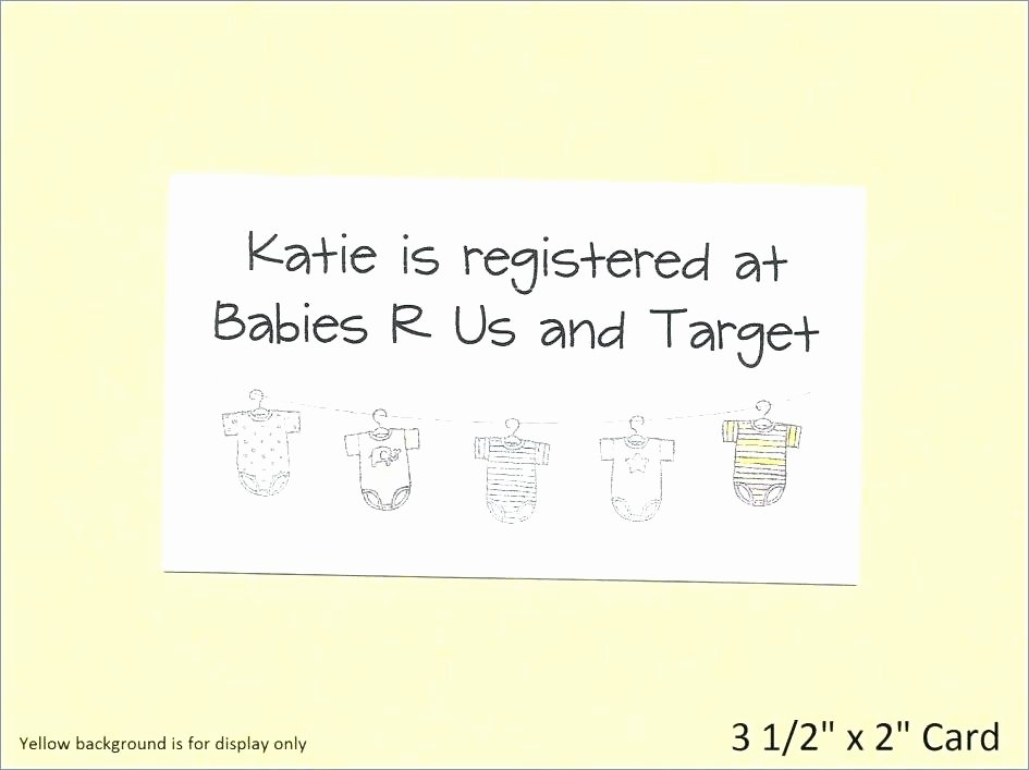 Baby Registry Cards Template Lovely Baby Shower Registry Cards Baby Shower Gift Registry