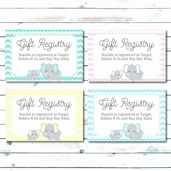Baby Registry Cards Template Luxury Baby Shower Registry Cards Template Free for Gift Meaning