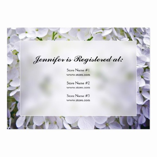 Baby Registry Cards Template Luxury Hydrangea Baby Shower Registry Cards Business Card