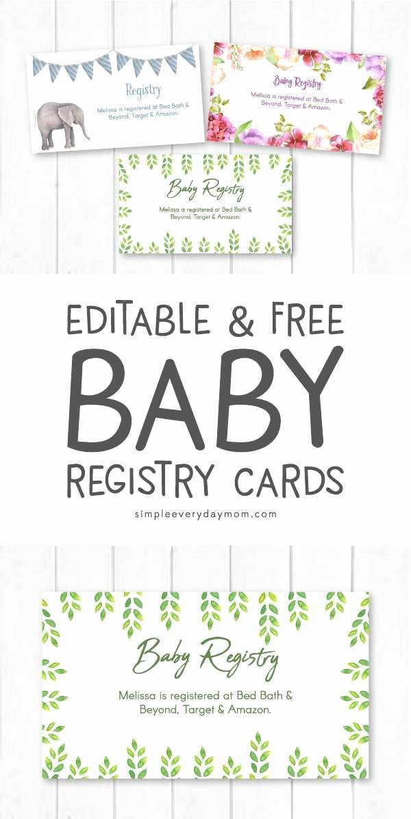 Baby Registry Cards Template New Baby Shower Registry Cards Best Baby Registry Cards