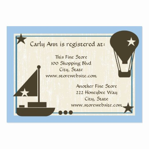 Baby Registry Cards Template Unique Baby Shower Registry Card Sail Boat Pack Chubby