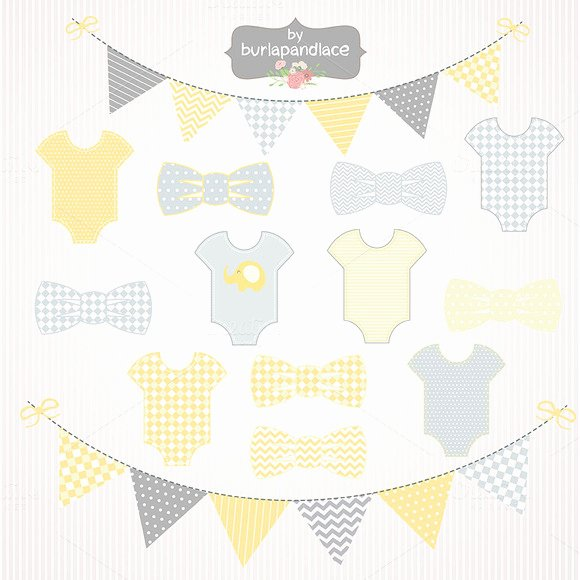 Baby Shower Banner Template Beautiful Baby Boy Yellow Grey Clipart Illustrations On Creative