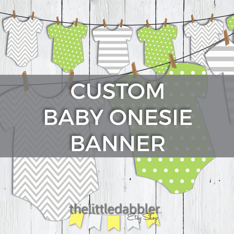 Baby Shower Banner Template Best Of Custom Printable Esie Baby Shower Banner Baby Esie E