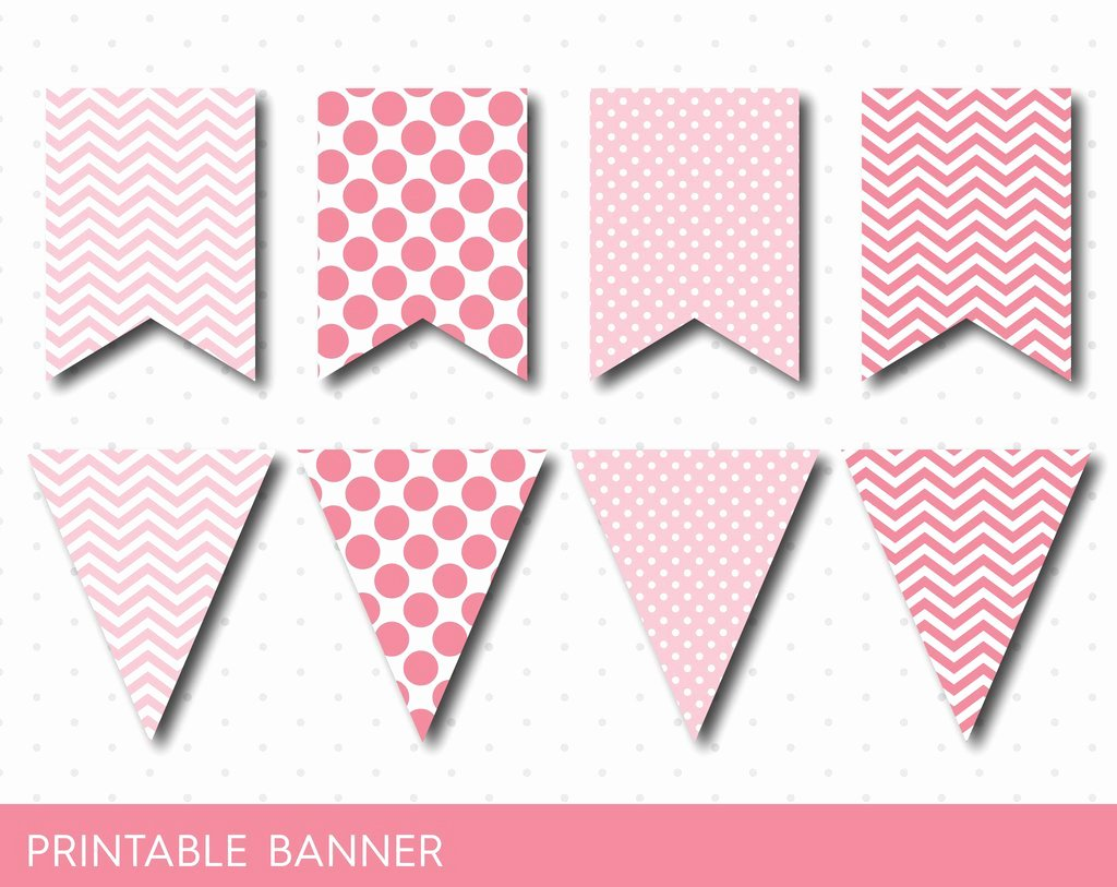 Baby Shower Banner Template Inspirational Printable Pink Banner Pink Birthday and Baby Shower