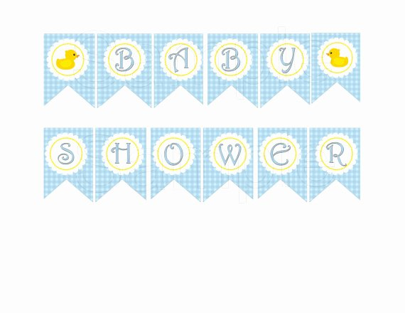 Baby Shower Banner Template Lovely Best S Of Rubber Duck Banner Template Printable