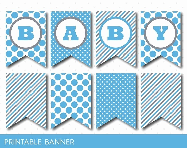 Baby Shower Banner Template Lovely Free Printable Baby Shower Banner Letters