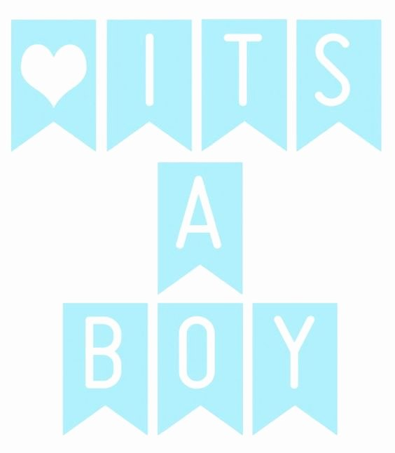 Baby Shower Banner Template Lovely Free Printable Banner 'it's A Boy'