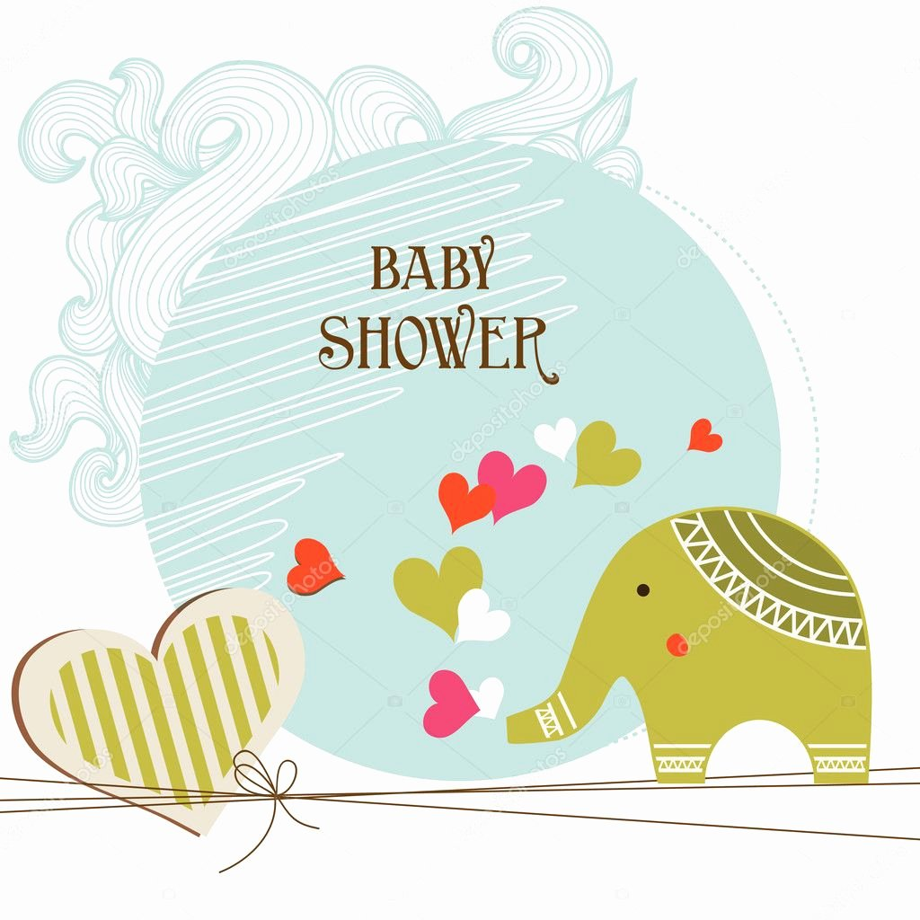 Baby Shower Card Template Beautiful Baby Shower Card Template — Stock Vector © Danussa