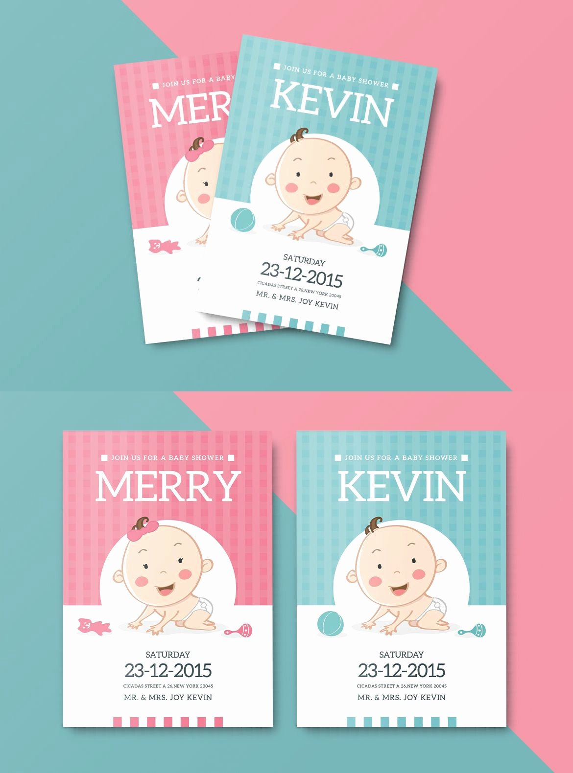 Baby Shower Card Template Elegant Baby Shower Invitation Card Template Ai Psd