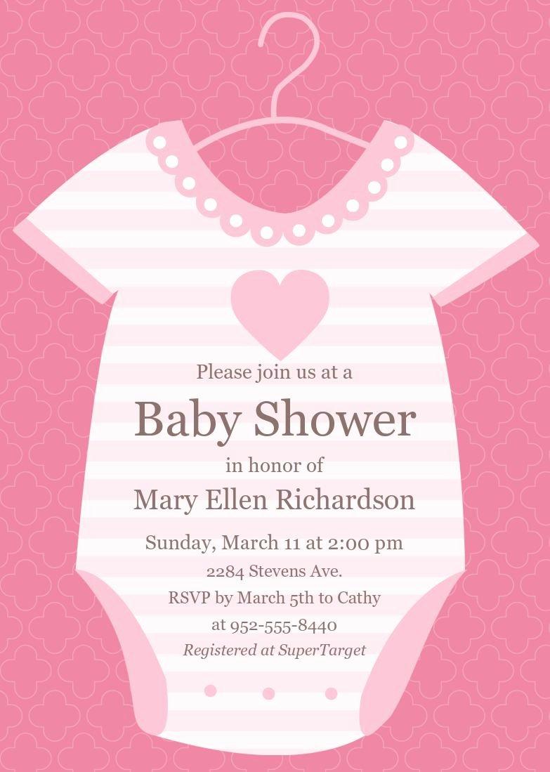 Baby Shower Card Template Elegant Baby Shower Invitations Baby Shower Invitations Cards
