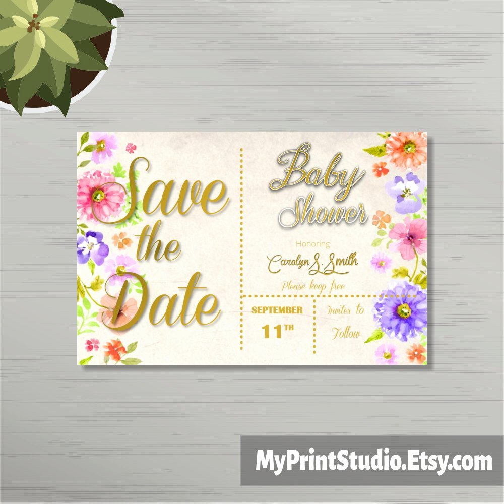 Baby Shower Card Template Fresh Save the Date Uni Baby Shower Card Template In Word Boy or