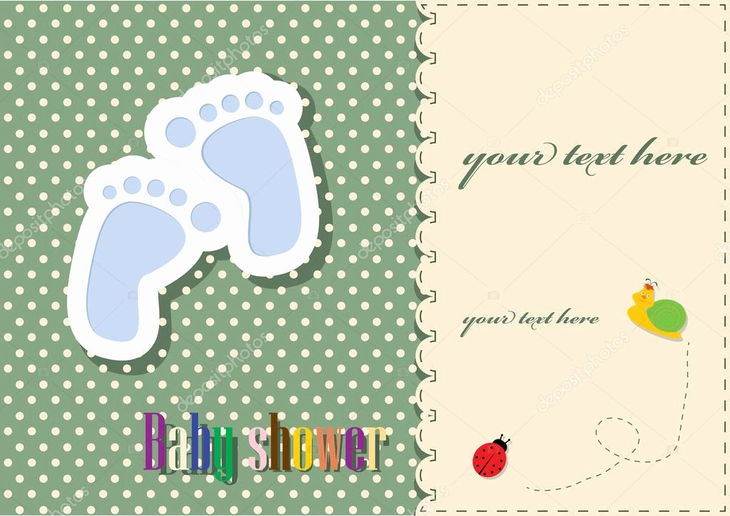 Baby Shower Card Template Inspirational Baby Shower Card Template — Stock Vector © Inxti74