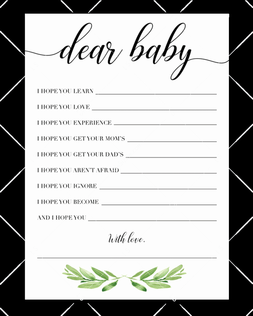 Baby Shower Card Template Luxury Printable Baby Wishes Cards