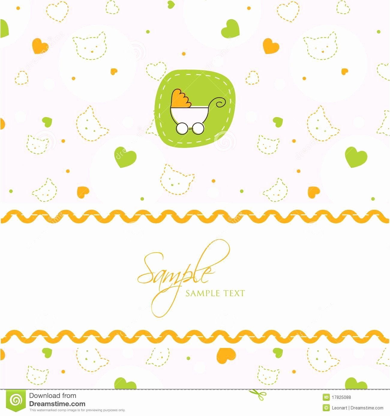 Baby Shower Card Template New Baby Shower Card Template Stock Vector Image Of Happiness