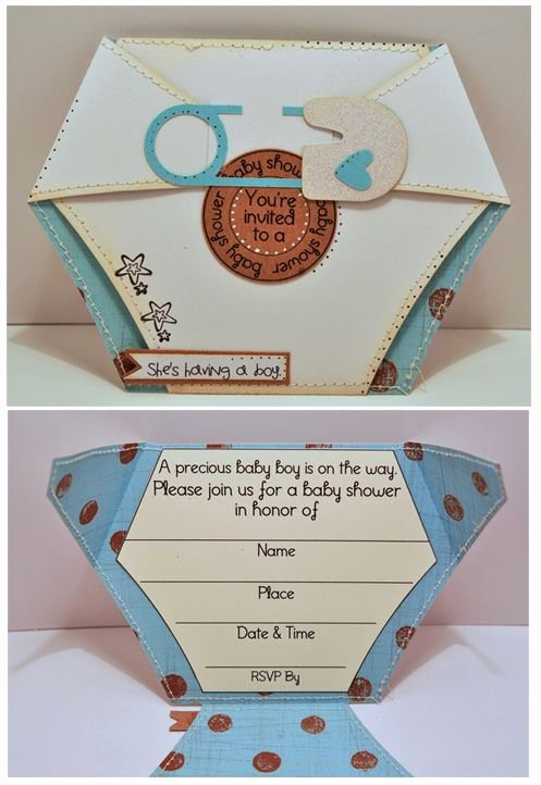 Baby Shower Card Template Unique 25 Best Ideas About Diaper Invitation Template On