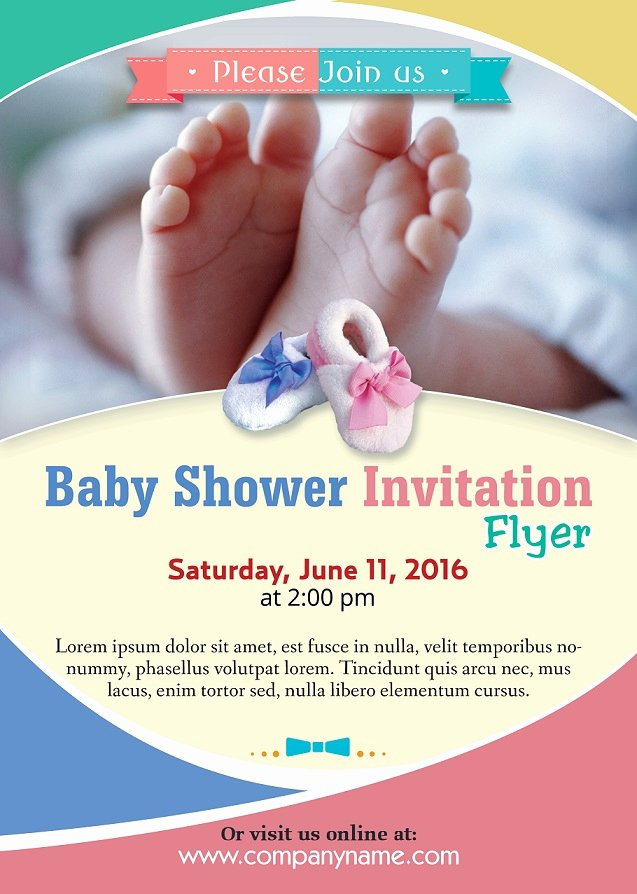 Baby Shower Flyer Template Awesome Baby Shower Flyer Template Shop Version Free
