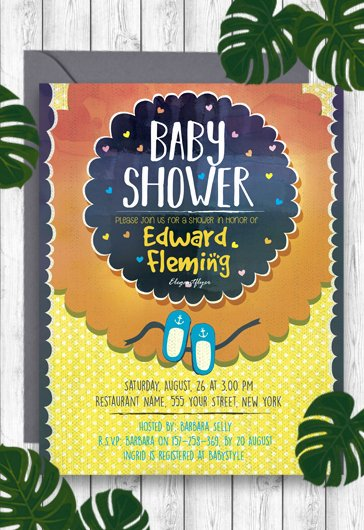 Baby Shower Flyer Template Beautiful Free Psd Flyer Templates for Shop by Elegantflyer
