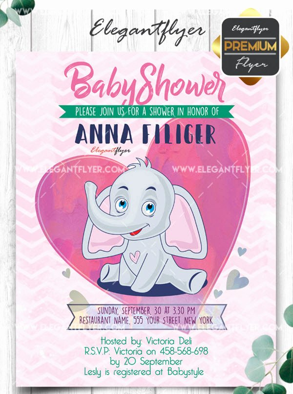 Baby Shower Flyer Template Elegant 20 Free and Premium Baby Shower Invitation Templates In
