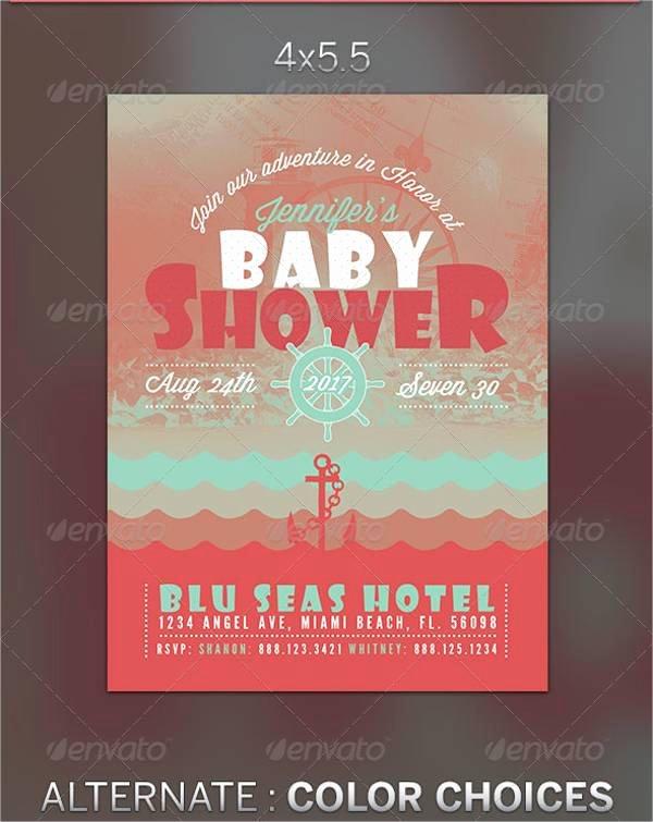 Baby Shower Flyer Template Elegant 35 Invitation Flyer Designs