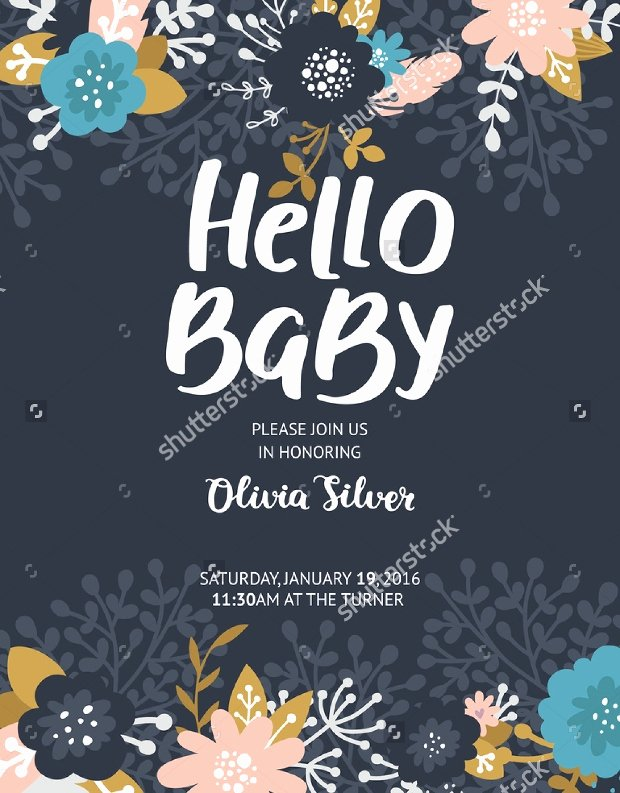 Baby Shower Flyer Template Fresh 16 Baby Shower Flyer Templates Printable Psd Ai