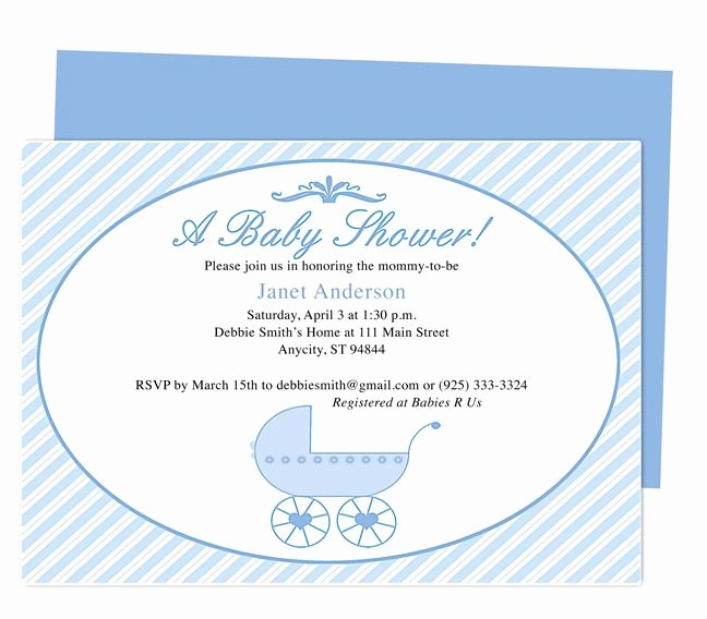 Baby Shower Flyer Template Fresh 42 Best Baby Shower Invitation Templates Images On Pinterest