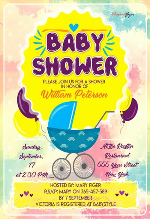 Baby Shower Flyer Template Fresh Baby Shower Party Flyer Template Download Free Flyer