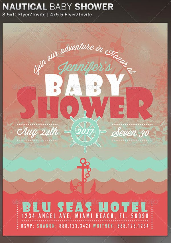 Baby Shower Flyer Template Inspirational 21 Baby Shower Flyer Templates Psd Ai Illustrator Download